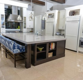Kitchen Island Concrete Countertop