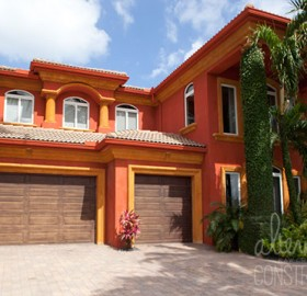 Exterior Lime Paint in Iron for a private home in Boca Raton, Florida.