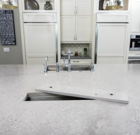 Custom Kitchen Island Concrete Countertop