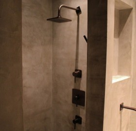 concrete shower wrap