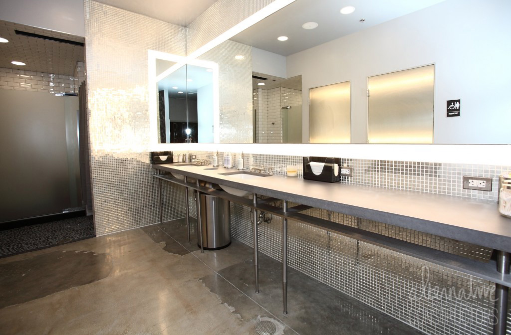 Concrete bathroom vanity
