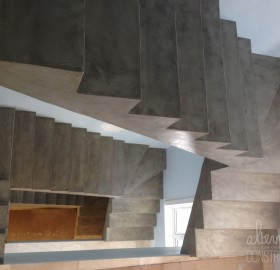 Gonet Bank Concrete Micro-Topping Stairwell
