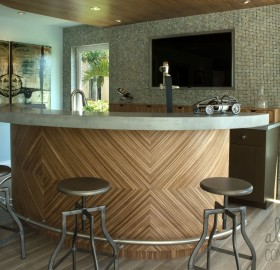Concrete Bar Countertop Private Residence