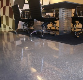 Alternative Constructors polished the concrete floors for this Exotic Car Shop in Fort Lauderdale, Florida.