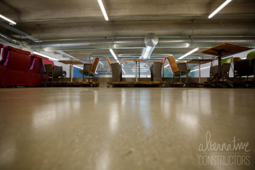 Honed And Sealed Concrete Floor Miami Ad School FL