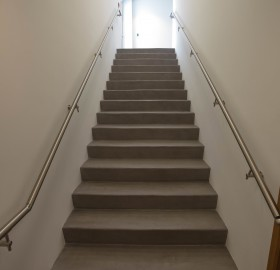 Concrete Microtopping Overlay Stairwell