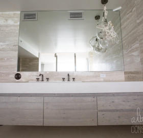 Concrete Bathroom Trough Sink Vanity