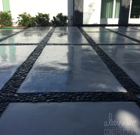 microcement driveway refinish