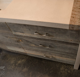 Custom Reclaimed Wood and Concrete Bathroom Vanity