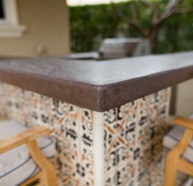 Concrete Microtopping Exterior Countertop