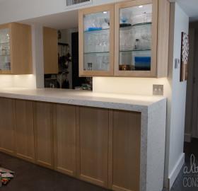 Kitchen Concrete Countertop with Waterfall Edge