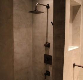 concrete shower wrap
