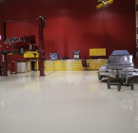High Gloss White Epoxy Floor