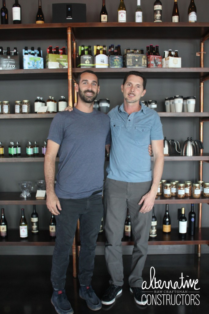 Scott Ojeda of Warsaw Coffee Company and Derek Shambora of Alternative Constructors
