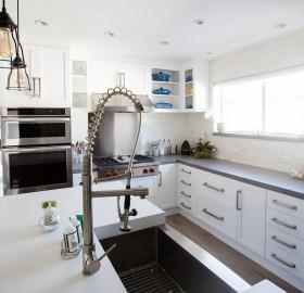 Concrete Kitchen Countertops and Concrete Backsplash Tile