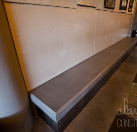 Beveled Edge Concrete Bench