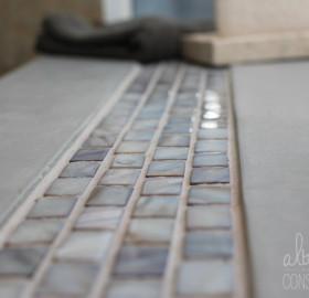 Concrete Microtopping Tub Surround